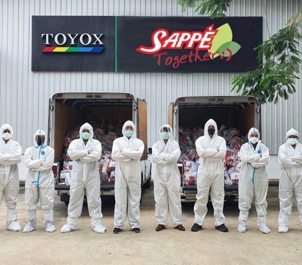 เซ็ปเป้ จับมือโตโยกซ์ ลงพื้นที่แจกถุงยังชีพ 1,000 ชุด ช่วยเหลือคนไร้บ้าน